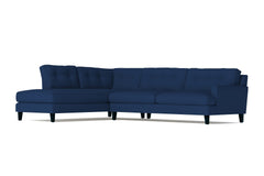 Virgil 2pc Sectional Sofa :: Leg Finish: Espresso / Configuration: LAF - Chaise on the Left