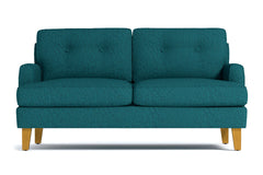 "Virgil Loveseat :: Leg Finish: Natural / Size: Loveseat - 58""w"
