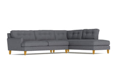 Virgil 2pc Sectional Sofa :: Leg Finish: Natural / Configuration: RAF - Chaise on the Right
