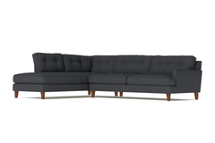 Virgil 2pc Sectional Sofa :: Leg Finish: Pecan / Configuration: LAF - Chaise on the Left