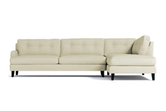Virgil 2pc Sectional Sofa :: Leg Finish: Espresso / Configuration: RAF - Chaise on the Right
