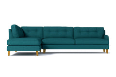Virgil 2pc Sectional Sofa :: Leg Finish: Natural / Configuration: LAF - Chaise on the Left