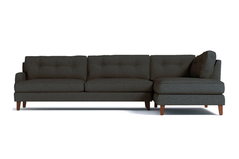 Virgil 2pc Sectional Sofa :: Leg Finish: Pecan / Configuration: RAF - Chaise on the Right