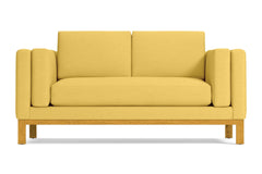 Walton Apartment Size Sofa :: Leg Finish: Natural