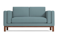 Walton Apartment Size Sofa :: Leg Finish: Pecan