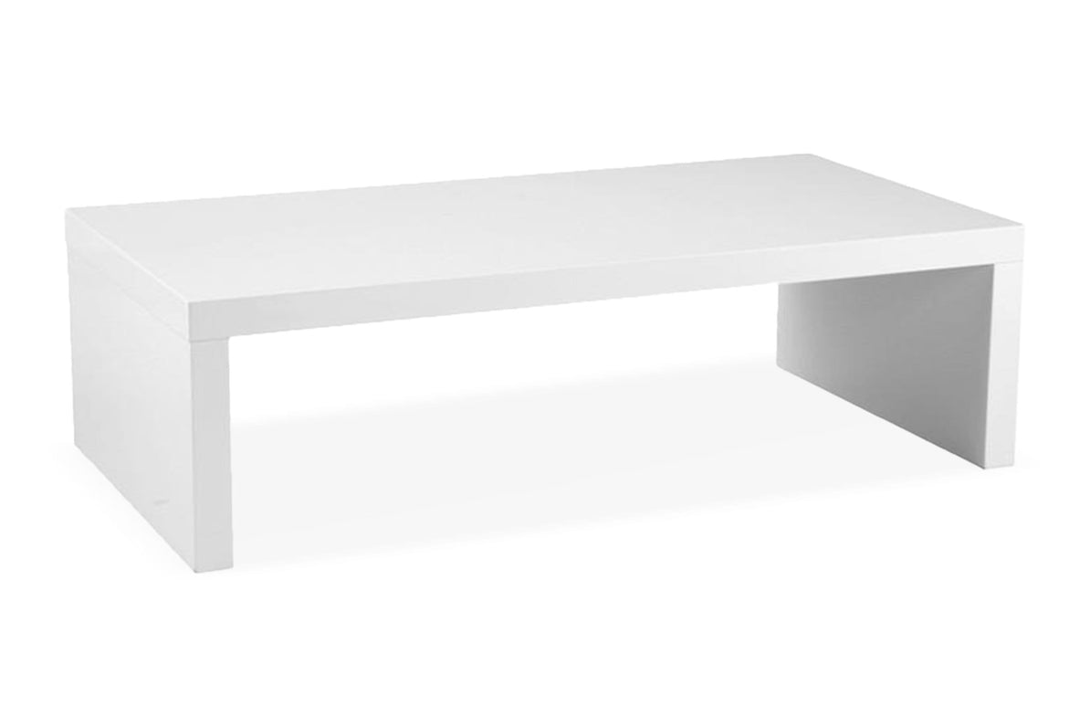 Cloverdale coffee table white lacquer apt2b
