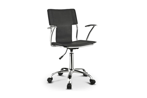 Dayton Office Chair BLACK/CHROME - Apt2B