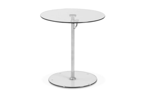Everett Adjustable Table CLEAR