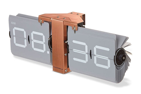 Flipping Out Clock by Cloudnola GREY/COPPER