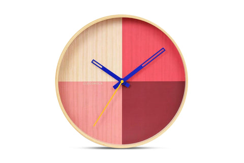 Flor Wall Clock by Cloudnola RED