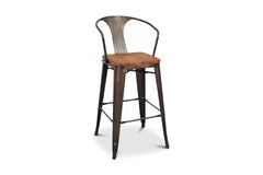 Grand Metal Bar Chair- Set of 4 GUNMETAL - Apt2B - 1