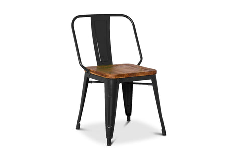 Grand Metal Side Chair- Set of 4 BLACK - Apt2B