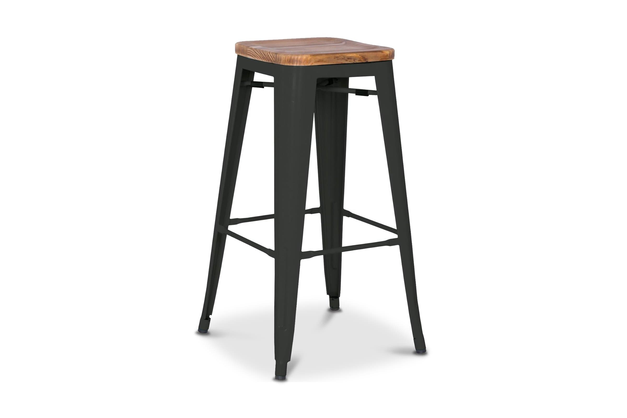 Grand Metal Counter Stool BLACK - SET OF 4