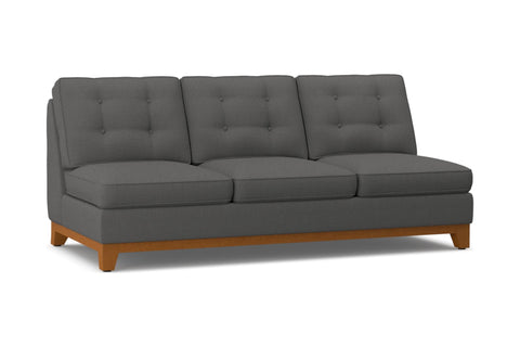 Brentwood Armless Sofa :: Leg Finish: Pecan