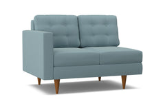 Logan Left Arm Loveseat :: Leg Finish: Pecan / Configuration: LAF - Chaise on the Left