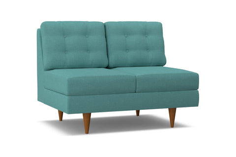 Logan Armless Loveseat :: Leg Finish: Pecan