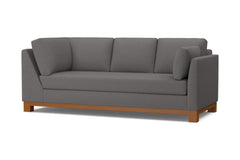 Avalon Right Arm Corner Sofa :: Leg Finish: Pecan / Configuration: RAF - Chaise on the Right