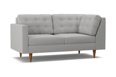 Logan Left Arm Return Apt Size Sofa :: Leg Finish: Pecan / Configuration: LAF - Chaise on the Left