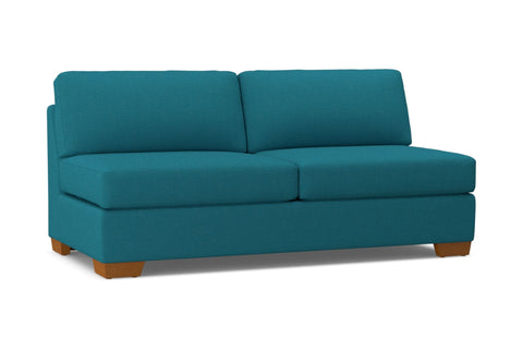 Melrose Armless Sofa :: Leg Finish: Pecan