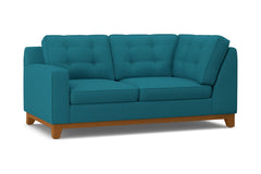 Brentwood Left Arm Corner Loveseat :: Leg Finish: Pecan / Configuration: LAF - Chaise on the Left