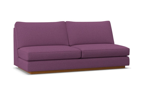 Harper Armless Sofa :: Leg Finish: Pecan