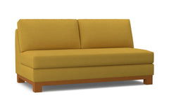 Avalon Armless Apartment Size Sofa :: Leg Finish: Pecan