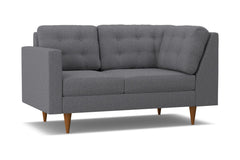 Logan Left Arm Corner Loveseat :: Leg Finish: Pecan / Configuration: LAF - Chaise on the Left