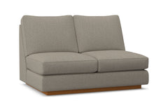 Harper Armless Loveseat :: Leg Finish: Pecan
