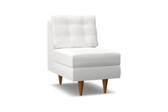 Logan Armless Chair :: Leg Finish: Pecan