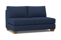 Tuxedo Armless Apartment Size Sofa :: Leg Finish: Pecan