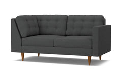 Logan Right Arm Return Apt Size Sofa :: Leg Finish: Pecan / Configuration: RAF - Chaise on the Right