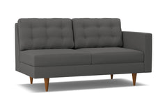 Logan Right Arm Apartment Size Sofa :: Leg Finish: Pecan / Configuration: RAF - Chaise on the Right