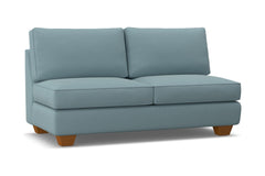 Catalina Armless Apartment Size Sofa :: Leg Finish: Pecan