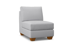 Tuxedo Armless Chair :: Leg Finish: Pecan
