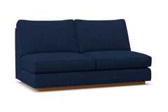 Harper Armless Apartment Size Sofa :: Leg Finish: Pecan