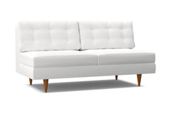 Logan Armless Sofa :: Leg Finish: Pecan