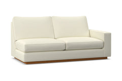Harper Right Arm Apartment Size Sofa :: Leg Finish: Pecan / Configuration: RAF - Chaise on the Right