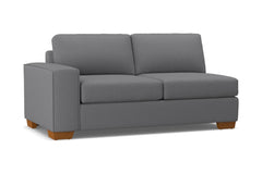 Melrose Left Arm Apartment Size Sofa :: Leg Finish: Pecan / Configuration: LAF - Chaise on the Left