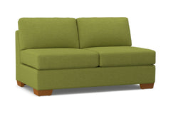 Melrose Armless Apartment Size Sofa :: Leg Finish: Pecan