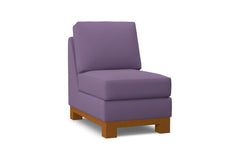Avalon Armless Chair :: Leg Finish: Pecan
