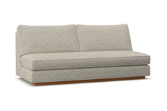 Harper Armless Sofa w/ Benchseat :: Leg Finish: Pecan
