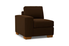 Melrose Left Arm Chair :: Leg Finish: Pecan / Configuration: LAF - Chaise on the Left