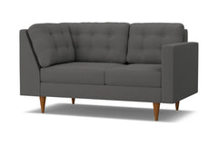 Logan Right Arm Return Loveseat :: Leg Finish: Pecan / Configuration: RAF - Chaise on the Right