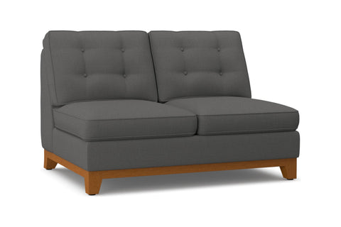 Brentwood Armless Loveseat :: Leg Finish: Pecan