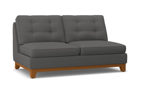 Brentwood Armless Apartment Size Sofa :: Leg Finish: Pecan
