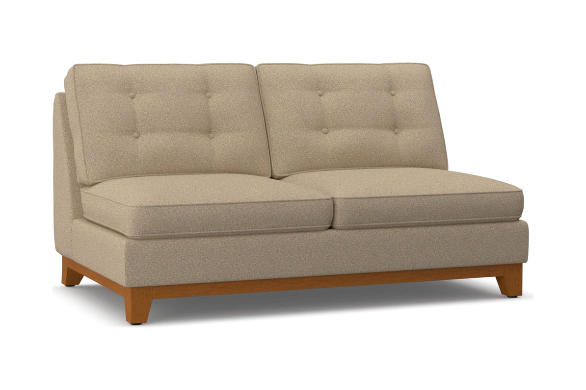 Brentwood Armless Apartment Size Sofa Leg Finish Pecan Apt2b
