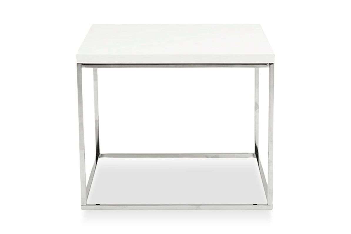 Kings Road End Table WHITE/CHROME   Apt2B