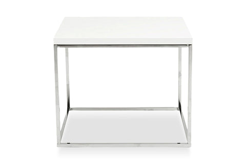 Kings Road End Table WHITE/CHROME - Apt2B