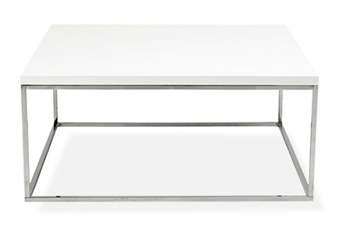 Kings Road Sq. Coffee Table WHITE/CHROME - Apt2B