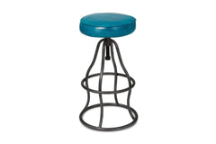 Levett Adjustable Bar Stool PEACOCK BLUE